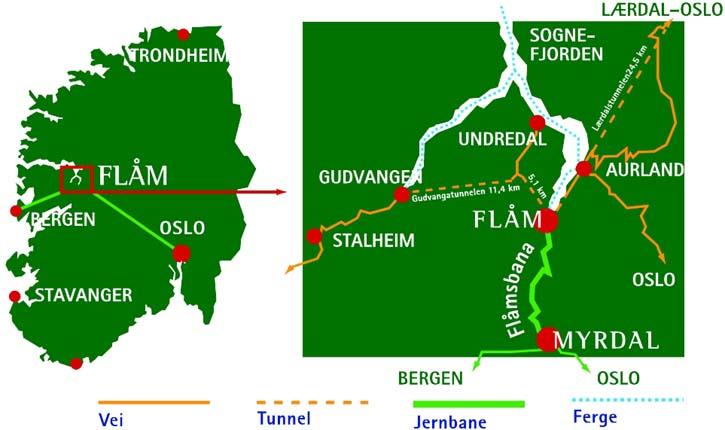 flåm kart Fakta om Aurland kommune   vestafjells.no flåm kart